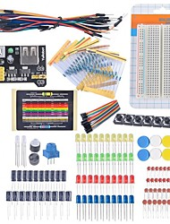 cheap -Starter Beginner Kit Breadboard Cable Resistor Capacitor LED Potentiometer for Arduino Learning Kit