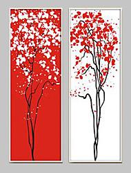 baratos -Fantasia Quadros Emoldurados / Conjunto Emoldurado Wall Art,PVC Branco Sem Cartolina de Passepartout com frame Wall Art