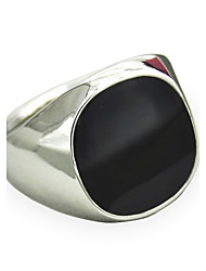 cheap -Men's Synthetic Sapphire / Black Gemstone Statement Ring - Personalized, Vintage, Punk 8 / 9 / 10 Silver / Golden For Christmas Gifts / Daily / Casual