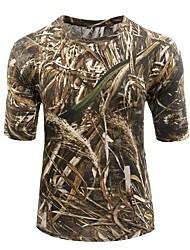 billige -Jagt T-shirt m. camouflagemønster Unisex Anti-statisk Åndbart Begrænser bakterier camouflage T-Shirt Toppe Kortærmet for Campering &