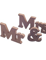 cheap -Wooden MR & MRS bridal log lubricious DIY wooden letters wedding furnishing articles