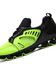 Unisex-Sneakers-Casual-Comoda-Piatto-PU (Poliuretano)-Verde Argento Dorato