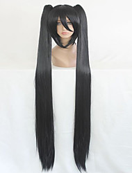 cheap -Synthetic Wig / Cosplay & Costume Wigs Straight Synthetic Hair Braided Wig / African Braids Black Wig Women's Capless