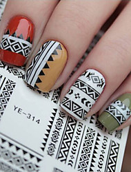 cheap -1pcs Water Transfer Sticker Nail Stamping Template Daily Fashion High Quality
