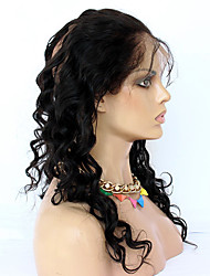 Недорогие -CARA Перуанские волосы 360 Лобовой Классика / Свободные волны Бесплатный Часть / Средняя часть / 3 Часть Французское кружево Натуральные волосы Повседневные
