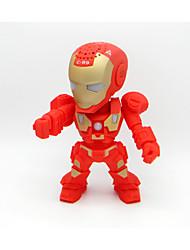 Iron Man Robot Wireless Bluetooth Speaker Mini Portable Light Card Audio Subwoofer
