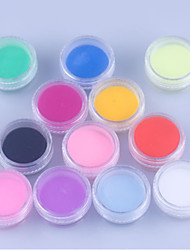cheap -12 Kinds Of Color/SET  Nail Art Decoration Crystal Bright Carved Powder