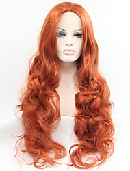 Sylvia Synthetic Lace front Wig Auburn Heat Resistant Long Curly Synthetic Wigs