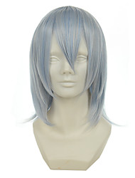 cheap -gintama sakata gintoki mixed silver light blue versatile cocked short halloween wigs synthetic wigs costume wigs Halloween