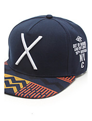 Casual X-Letter Embroidery Geometric Patterns Print Hip-Hop Flat Baseball Caps For Men And Women