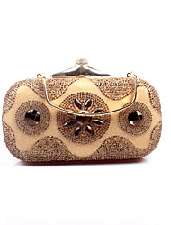 preiswerte -Damen Taschen Poly Urethan Abendtasche Crystal / Strass für Hochzeit Veranstaltung / Fest Formal Ganzjährig Silber Golden