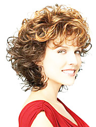 cheap -Synthetic Wig Curly Synthetic Hair Ombre Hair Brown Wig Women's Capless