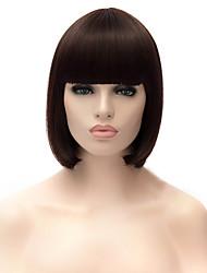 cheap -Women Synthetic Wig Dark Auburn Natural Wigs Costume Wig