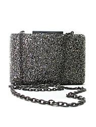 Women Bags All Seasons PVC Metal Clutch Crystal/ Rhinestone for Wedding Event/Party Formal Professioanl Use Gray