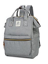 cheap -Women's Bags Canvas Backpack Zipper for Casual Fall Gray
