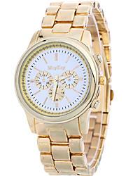 abordables -Mujer Reloj de Pulsera Gran venta / Cool / / Acero Inoxidable Banda Casual / Moda Dorado