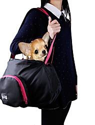 economico -Gatto Cane Trasportini e cucce da viaggio Trapuntata Animali domestici Supporto Portatile Tinta unita Nero Grigio