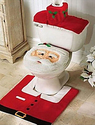 cheap -Quality Flannel Seat Cover & Rug Foot Pad Water Tank Set  Towel Cover Bathroom Se Santa Claus Christmas Ornament