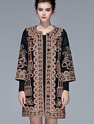 cheap -PROVERB Women's Vintage Chinoiserie Coat-Floral Geometic,Embroidery