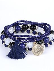 cheap -Men's Women's Strand Bracelet Bracelet Fashion Beaded Multi Layer Luxury Acrylic Resin Imitation Diamond Jewelry For Wedding Anniversary