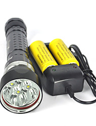 cheap -Underwater 200m 8000LM 4xXM-L2 LED Scuba Diving Flashlight Torch Full set Of Battery Charger