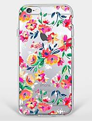 Für iPhone 7 Hülle / iPhone 7 Plus Hülle / iPhone 6 Hülle Muster Hülle Rückseitenabdeckung Hülle Blume Weich TPU AppleiPhone 7 plus /