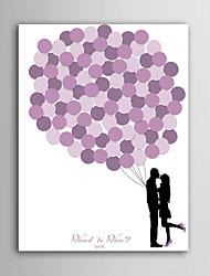 e-casa tela firma personalizzata stampa cornice invisibile - rosa paio palloncino
