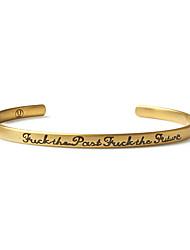 cheap -Men Jewelry Bangle Bracelet Love Bracelet Punk Undercover Cuff Bracelet Vintage Letter Titanium Steel Bracelet Gift Idea