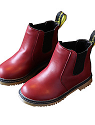 cheap -Girls' Shoes PU Fall / Winter Comfort / Snow Boots Boots Walking Shoes for Black / Brown / Burgundy