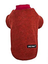 abordables -Chat / Chien Pull Vêtements pour Chien Couleur Pleine Gris / Violet / Bleu Coton Costume Pour les animaux domestiques Homme / Femme Décontracté / Quotidien / Garder au chaud / Mode