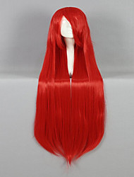 cheap -High Quality Synthetic Classical Women Wig 100cm Long Straight  Red Cosplay Custome Party Wig