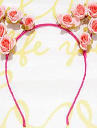 cheap -Cat Ear Headband Antlers Headband Rose Flower Headbands