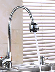 Contemporary Art Deco/Retro Modern Standard Spout Centerset Pre Rinse Thermostatic Brass Valve Single Handle One Hole Nickel Polished ,