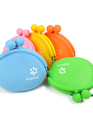 cheap -Cat Dog Bowls & Water Bottles Pet Bowls & Feeding Portable Orange Yellow Green Blue Blushing Pink