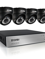 cheap -ZOSI®8CH 720P DVR 4PCS 1.0MP IR Dome Camera Home Security System Surveillance Kits