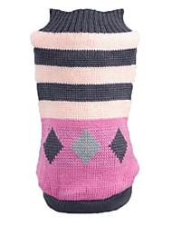 preiswerte -Katze Hund Pullover Hundekleidung Streifen Rosa Acrylfasern Kostüm Für Haustiere Herrn Damen Lässig/Alltäglich