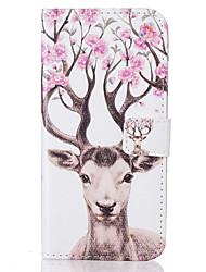 Pour Coque iPhone 7 Coque iPhone 6 Coque iPhone 5 Portefeuille Porte Carte Avec Support Clapet Motif Coque Coque Intégrale Coque Animal