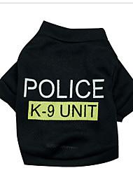 preiswerte -Hund Pullover Hundekleidung Geburtstag Cosplay Modisch Polizei / Militär Kostüm Für Haustiere