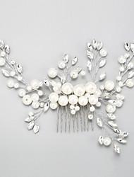 baratos -imitação de perol rhinestone alloy cabelo pente cabeça estilo elegante
