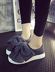 Women's Loafers & Slip-Ons Spring Fall Platform Polyester Casual Platform Bowknot Black Gray