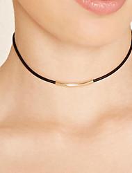 Недорогие -Ожерелье Без камня Ожерелья-бархатки Татуировка Choker Бижутерия Повседневные Тату-дизайн Мода Кожа 1шт Подарок Черный