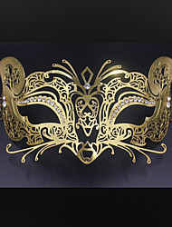 Women's Halloween party Carnival laser cutting metal Venice fox mask3006A3