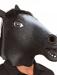 cheap -Halloween Masks Animal Mask Toys Horse Head Latex Rubber Horror Novelty 1 Pieces Unisex Halloween Masquerade Gift