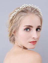 abordables -diadema de perlas tiaras diademas estilo femenino clásico