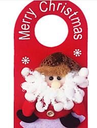 baratos -Natal porta pendurada decorações de natal adicionar natal decorar decorações de natal padrão é aleatório