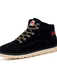 Недорогие -Муж. обувь Полиуретан Зима Осень Удобная обувь Туфли на шнуровке Для прогулок Шнуровка для Повседневные на открытом воздухе Черный