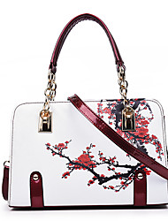 cheap -Women Bags PU Satchel for Wedding Event/Party Casual Formal Office & Career All Seasons Green White Black Red Purple