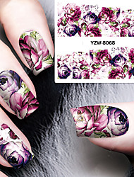 cheap -1 sheet diy decals nails art water transfer printing stickers accessories for manicure salon yzw 8068