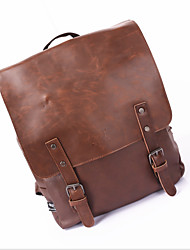 Men Bags All Seasons PU Backpack for Casual Formal Office & Career Black Brown Light Brown