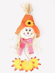 Недорогие -1шт Халоуин декора новизны подарка Террористические украшения наряжаются двери пузыря тыквы кулон случайный цвет